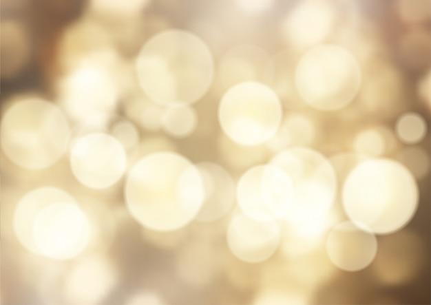 黄金のボケライトの背景
