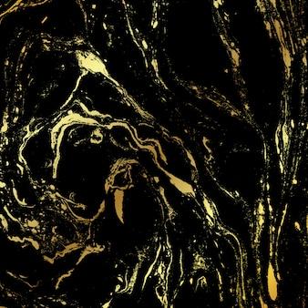 黒と金の大理石のテクスチャ背景