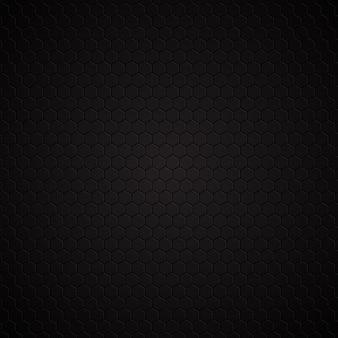 六角形の暗いパターンの背景