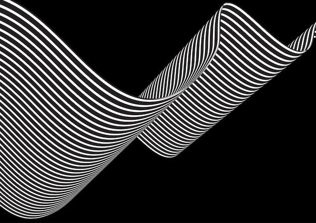 Абстрактный фон с развевающимися полосами