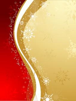 赤と金色のクリスマスの抽象的な背景