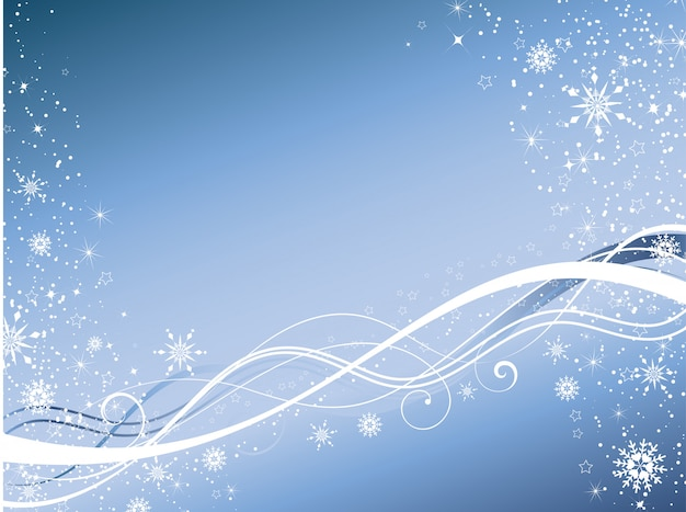 Зимний абстрактный фон
