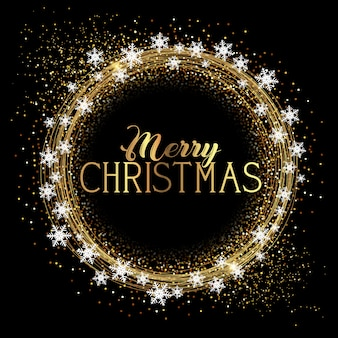 Рождественский фон с блеском и снежинками