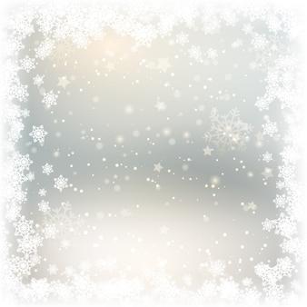 クリスマス雪の結晶の背景