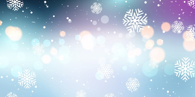 クリスマス雪とボケライトバナー