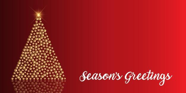 Рождественский фон с елочными шарами