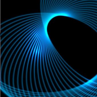 Абстрактные светящиеся линии дизайна