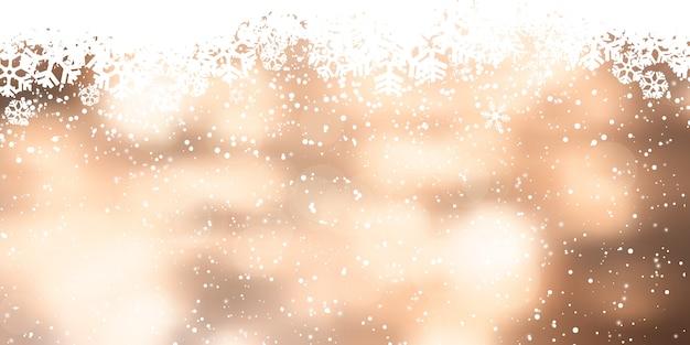 クリスマススノーフレークバナーデザイン