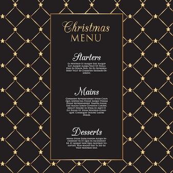 Рождественское меню с золотыми звездами