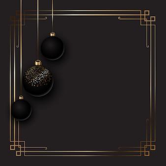 Элегантный новогодний фон с шарами