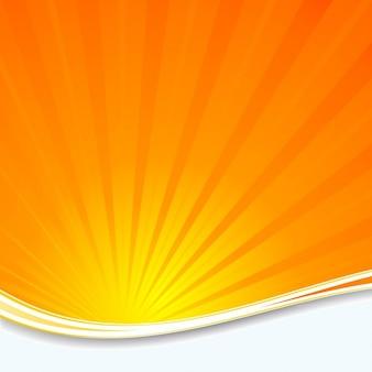 オレンジサンバーストの背景