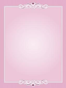 聖バレンタインの日グリーティングカードのロマンチックなフレームの背景
