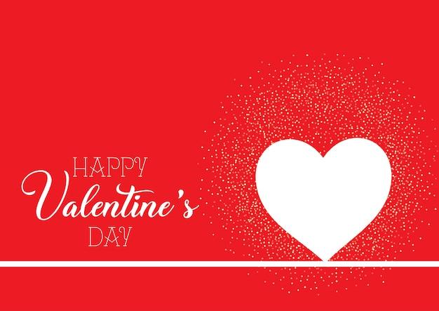 День святого валентина фон с сердцем и конфетти