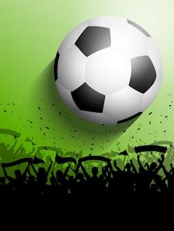 サッカーまたはサッカーの群衆