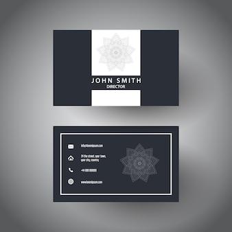 Элегантный дизайн визитной карточки с дизайном мандалы