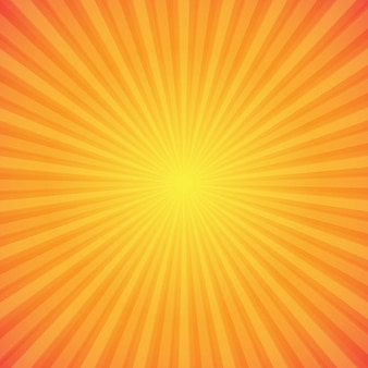 明るいオレンジと黄色のサンバーストの背景