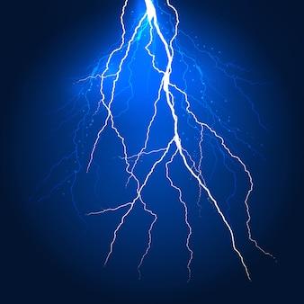 抽象的な雷背景デザイン