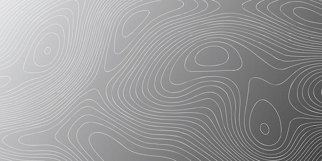 Шаблон баннера с контурным дизайном топографии