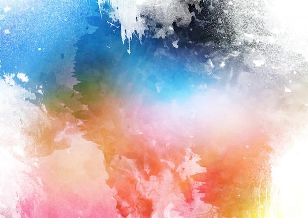 詳細なカラフルな水彩テクスチャ背景