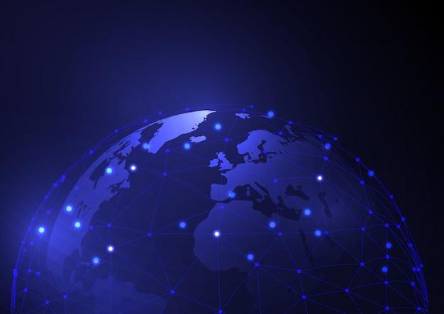 Глобальная коммуникация дизайн фона