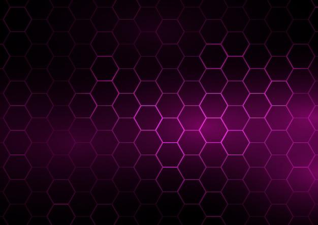 六角形のデザインのテクノバナー