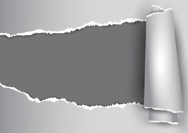 破れた紙のデザインと抽象的な背景