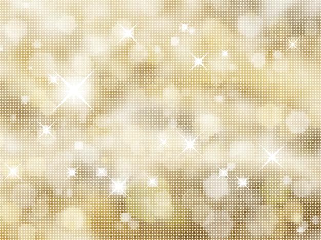 ハーフトーンドットの金色の背景