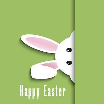 かわいいウサギのデザインとイースターの背景