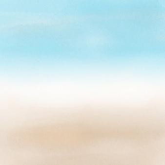 水彩効果を持つ抽象ビーチ風景