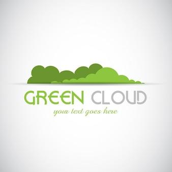 緑の雲のデザインと抽象的なロゴ