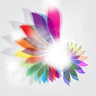 Декоративный фон с абстрактным цветочным узором