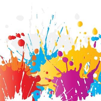 鮮やかな色のペイントスプラットの抽象的な背景