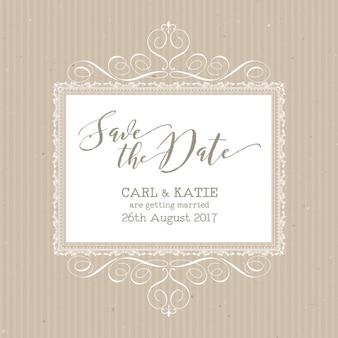 日付の招待状のデザインを保存