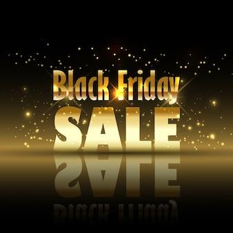 Черный фон продажа пятницу с золотыми блёстками