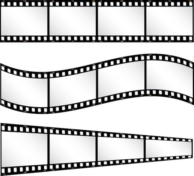 さまざまなフィルムストリップの背景