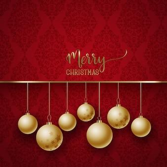 エレガントなクリスマスの背景