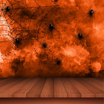 ハロウィーン、背景、クモの巣、背景