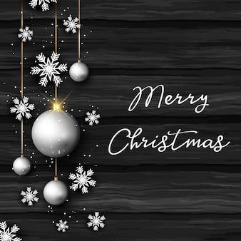 木のテクスチャのクリスマスの房