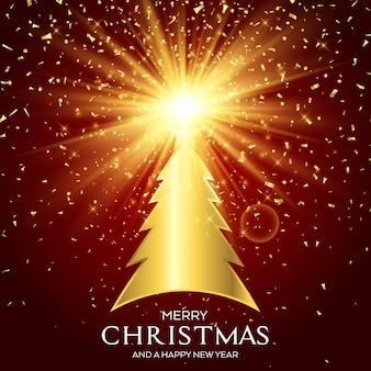 Золотой фон рождественской елки