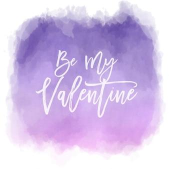 水彩効果のバレンタインデーの背景