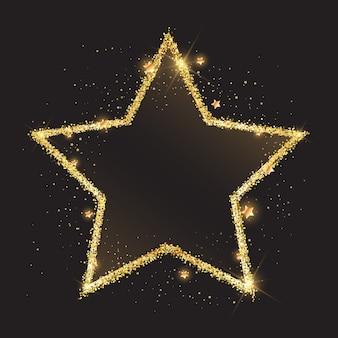 輝く金色の星の背景