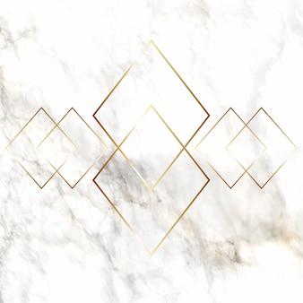 Золотая алмазная модель на мраморной текстуре