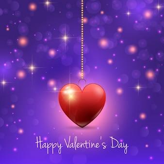 赤いハートとバレンタインデーの背景