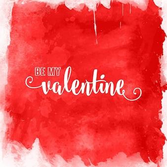 水彩画のデザインとバレンタインデーの背景