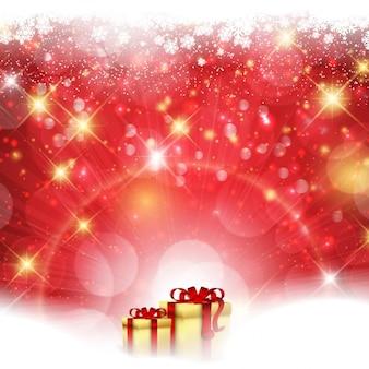 光沢のあるスタイルでクリスマスの背景