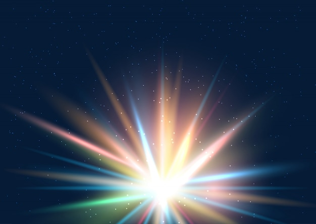 カラフルな星の背景