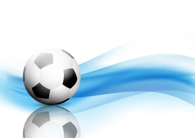 サッカー、サッカーボールを持つ抽象的な波の背景