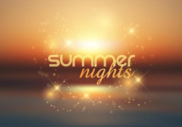 夏の夜の背景