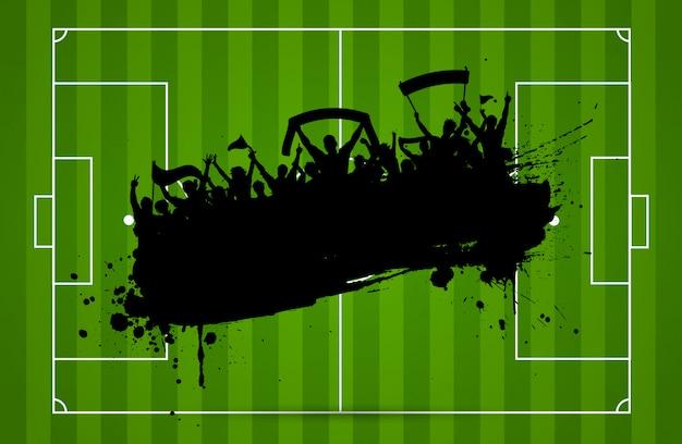 サッカーまたはサッカーの背景