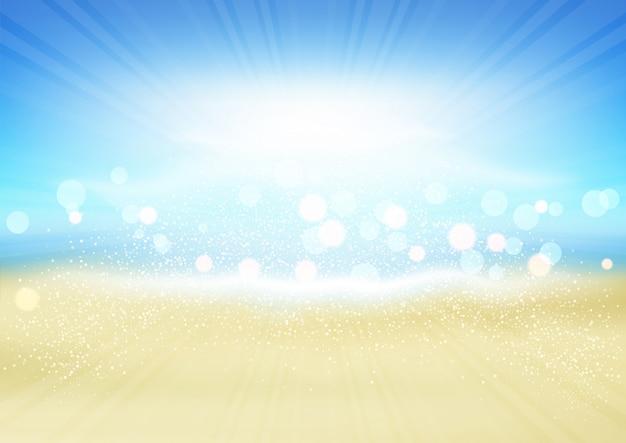 夏のビーチの背景